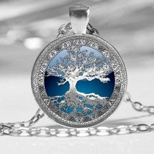 Celtic Tree of Life Photo Tibet Silver Necklace